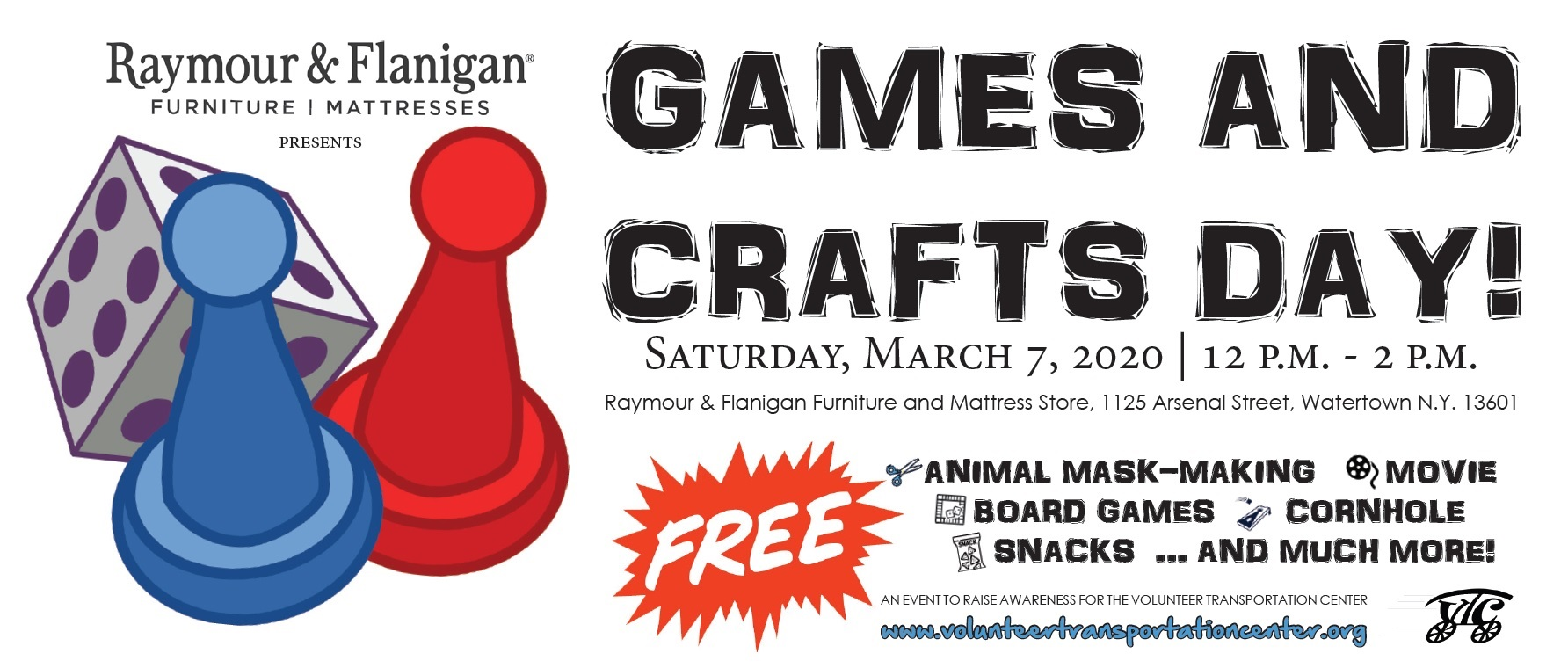 Raymour & Flanigan to Host Games and Crafts Day for VTC