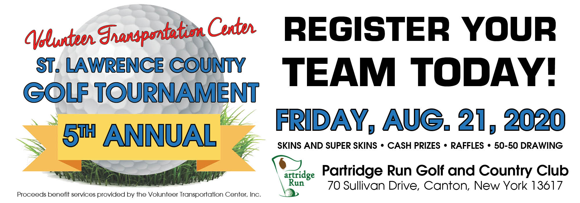 5th Annual Volunteer Transportation Center St. Lawrence County Golf Tournament